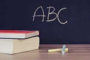 english chalkboard